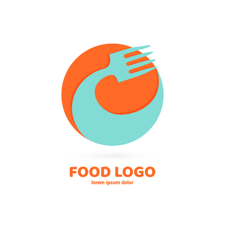 Vector design cooking logo. Food pictogram, cooking abstract icon  イラスト・ベクター素材