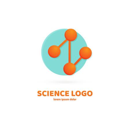 Vector design logo laboratory. Molecule pictogram, chemistry abstract icon Archivio Fotografico - 101612695