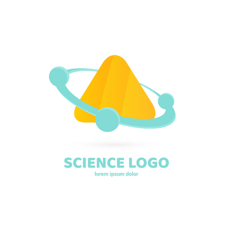 Vector design logo laboratory. Molecule pictogram, chemistry abstract icon 向量圖像