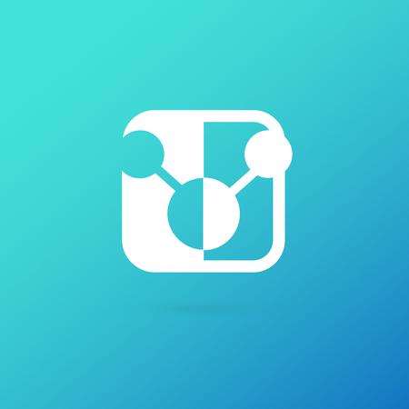 Vector design logo laboratory. Molecule pictogram, chemistry abstract icon Illustration