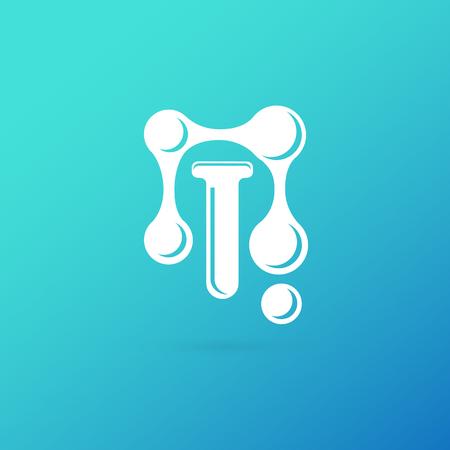 Vector design logo laboratory. Molecule pictogram, chemistry abstract icon  イラスト・ベクター素材