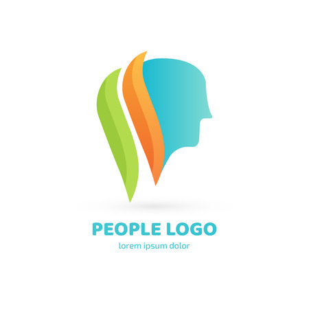 Illustration design of logotype business relaxation symbol. Vector happy man web icon.