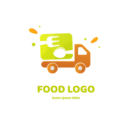 Vector design logo fork and spoon. Food pictogram, cooking abstract icon 版權商用圖片 - 101752110
