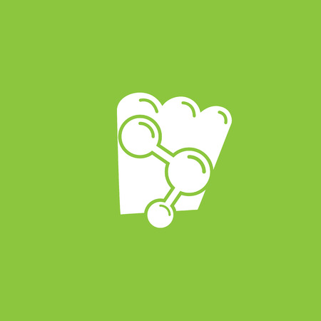 Vector design logo experimental cuisine. Food pictogram, cooking abstract icon
