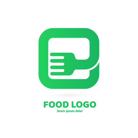 Illustration design of logotype restaurant, cafe, grocery store. Vector menu web icon.