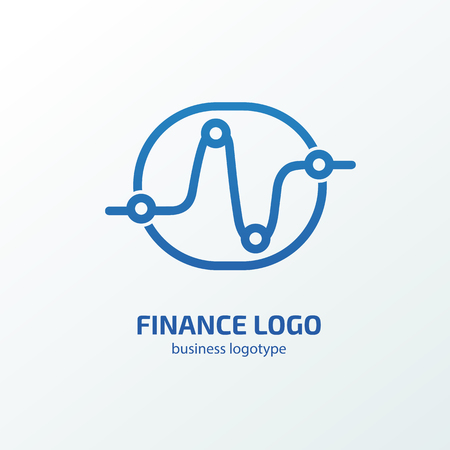 Vector design finance and investment. Graph and chart pictogram, analytic abstract icon Illustration