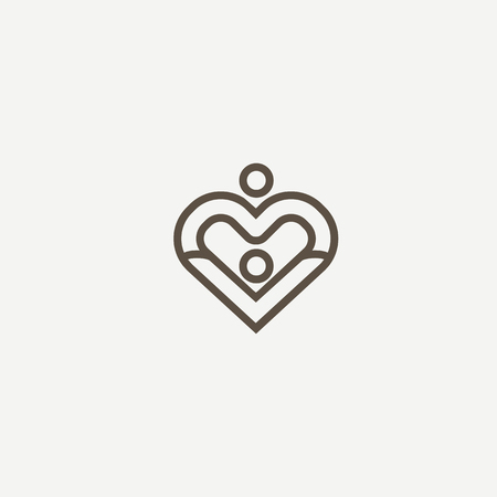 Abstract community logo icon vector design. Care, medicine, health, social work vector logo. 일러스트
