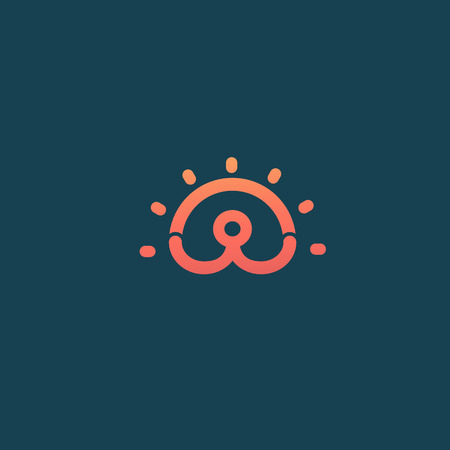 Illustration design of logotype business active person symbol.