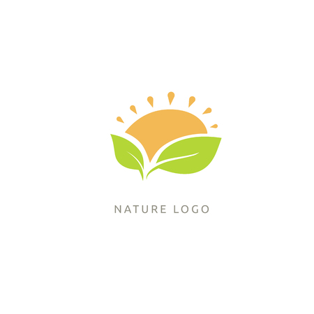 Ecology Happy life Logotype concept icon. Vector illustration, Graphic Design Editable Design.
