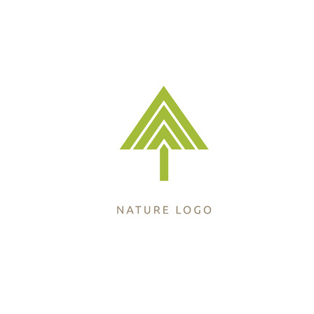Vector illustration, Graphic Design Editable Design. Tree, fir-tree, wood oakweb icon