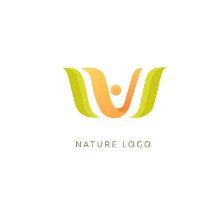 People and plant concept icon. Eco friendly, bio, eco, non gmo products Vector illustration.
