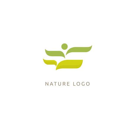 People and plant concept icon. Eco friendly, bio, eco, non gmo products Vector illustration.