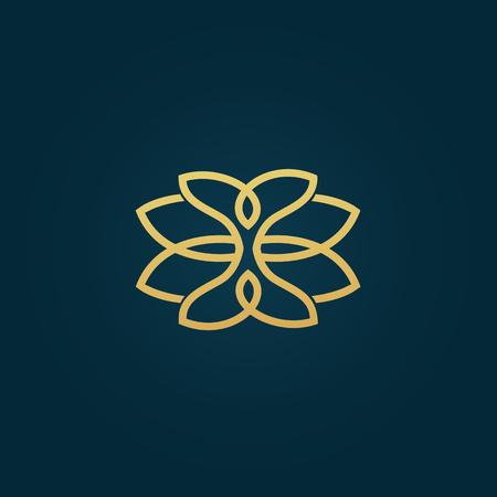 Emblem luxury beauty spa, cosmetics, jewerly, hotel, restaurant Wedding elegant outline frame