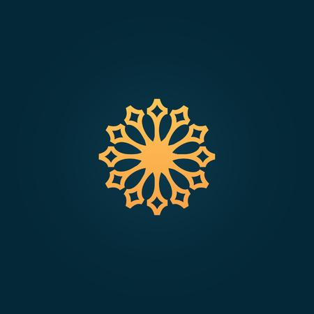 Emblem luxury beauty spa, cosmetics, jewerly, hotel, restaurant Wedding elegant frame Illusztráció