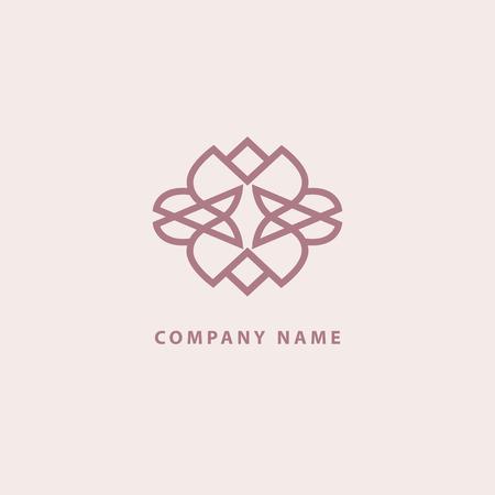 Emblème spa de beauté de luxe, cosmétiques, restaurant d'hôtel de bijoux