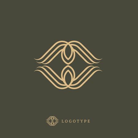 Emblem luxury beauty business, spa, cosmetics jewelry restaurant Illusztráció