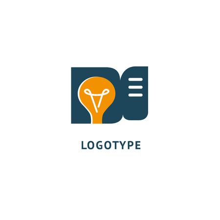 Idea minimalistic vector logo. Vector lamp Template. Lamp icon. Vector illustration, Graphic Design Editable Design.