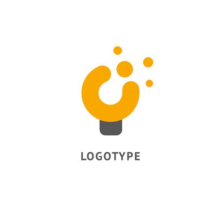 Idée de logo vectoriel minimaliste. Modèle de lampe de vecteur. Icône de la lampe. Illustration vectorielle, conception graphique modifiable.