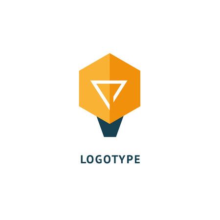 Idea minimalistic vector logo. Vector lamp Template. Lamp icon. Illustration, Graphic Design Editable Design.