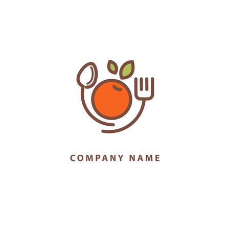 Signe abstrait, logo vectoriel, icône minimaliste de conception modifiable