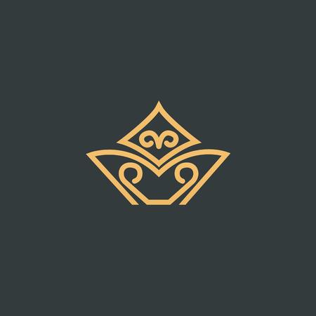 Segno astratto, logotipo vettoriale, segno minimalista design modificabile. Logo di stock di vettore. Disegno dell'illustrazione del logotipo elegante, premium e reale. Logo