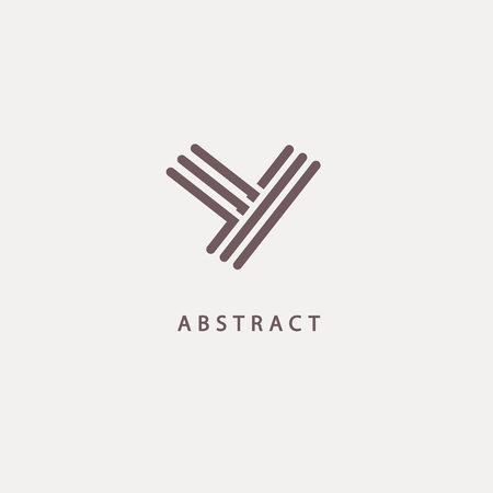 Abstract sign, vector logotype, editable design minimalist sign. Vector stock logo. Illustration design of elegant, premium and royal logotype.