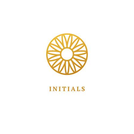 Abstract sign, vector logotype, editable design minimalist sign. Vector stock logo. Illustration design of elegant, premium and royal logotype. Logo