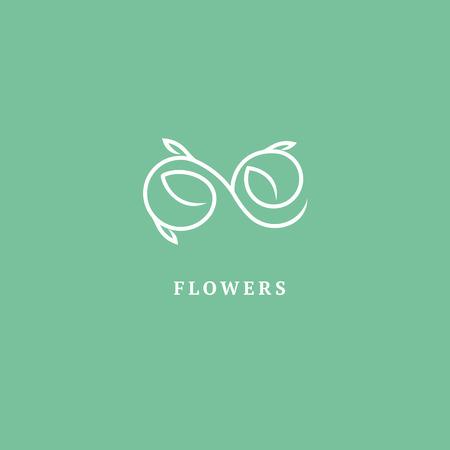 Abstraktes Zeichen, Vektorlogotyp, bearbeitbares minimalistisches Designzeichen. Vektor Lager Logo. Illustrationsdesign des eleganten, Premium- und königlichen Logos.