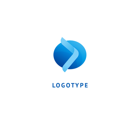 Abstract sign, vector logotype, editable design minimalist sign. Vector stock logo. Illustration design of geometric, simple logotype. Illustration