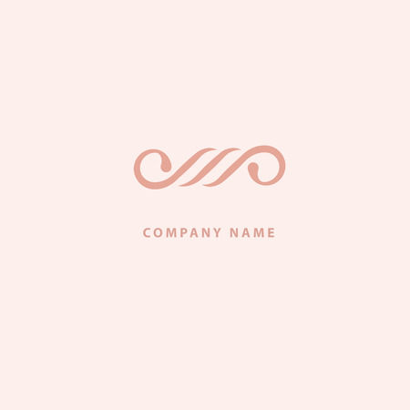Vector stock logo, abstract monogram vector template. Illustration design of elegant, premium and royal logotype. Vector icon of wedding. Cosmetics, Spa, Beauty salon Decoration Boutique vector logo