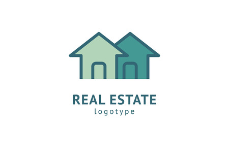 Abstract real estate agent logo icon vector design. Rent, sale of real estate vector logo, House cleaning, home security, real estate auction. Vector building logo concept.