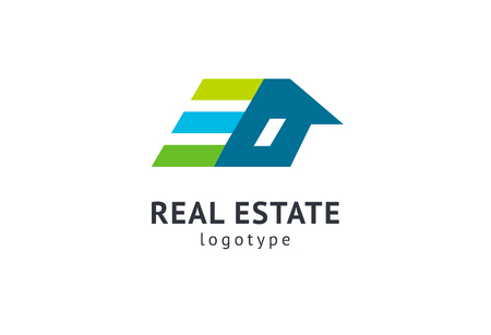 Abstract real estate agent logo icon vector design. Rent, sale of real estate vector logo, House cleaning, home security, real estate auction. Vector building logo concept