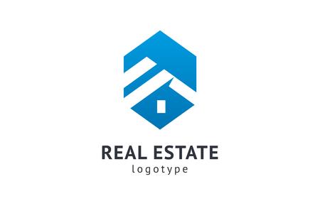 Agente inmobiliario abstracto logo icono diseño vectorial. Alquiler, venta de logotipo de vector de bienes raíces, limpieza de la casa, seguridad del hogar, subasta de bienes raíces. Concepto de logotipo de construcción de vectores Logos