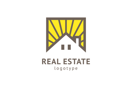 Abstract real estate agent logo icon vector design. Rent, sale of real estate vector logo, House cleaning, home security, real estate auction. Vector building logo concept Logo