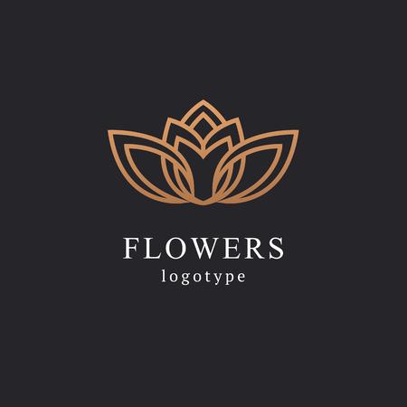 Diseño abstracto del vector del icono del logotipo de la tienda de flores. Cosméticos, Spa, Salón de Belleza Decoración Boutique vector logo. Ilustración vectorial, diseño gráfico, diseño editable. Logotipo floral. Icono de boda de flores.