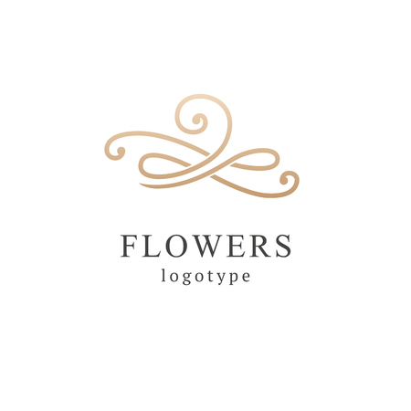 Abstract flower store logo icon vector design. Cosmetics, Spa, Beauty salon Decoration Boutique vector logo. Vector illustration, Graphic Design Editable Design. Floral logo. Flower wedding icon.