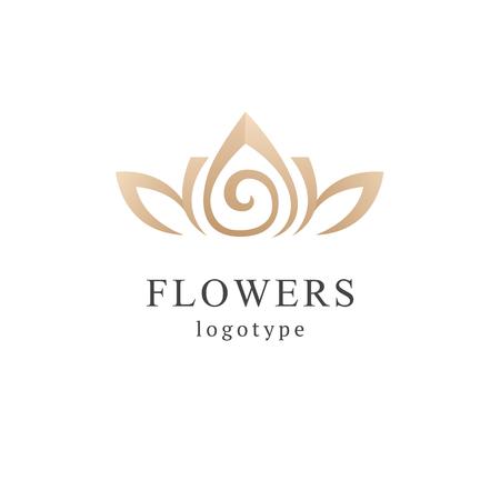 Abstract flower store logo icon vector design. Cosmetics, Spa, Beauty salon Decoration Boutique vector logo. Vector illustration, Graphic Design Editable Design. Floral logo. Flower wedding icon.