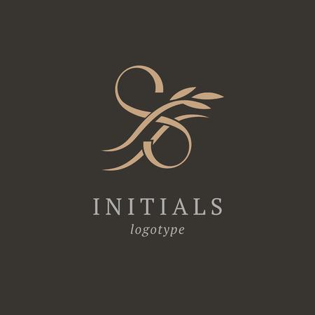 Letter S vector logo. Vintage Insignia and Logotype. Business sign, identity, label, badge initials. Monogram design elements, graceful template. Calligraphic elegant logo design