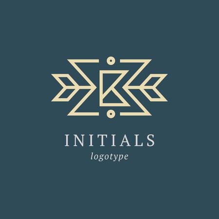 Letter B vector logo. Vintage Insignia and Logotype. Business sign, identity, label, badge initials. Monogram design elements, graceful template. Calligraphic elegant logo design Logo