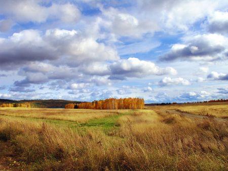 siberia:    autumn in siberia Stock Photo