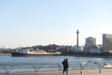 View from The Daisan Bridge in Minato Mirai, Yokohama City, Kanagawa Prefecture