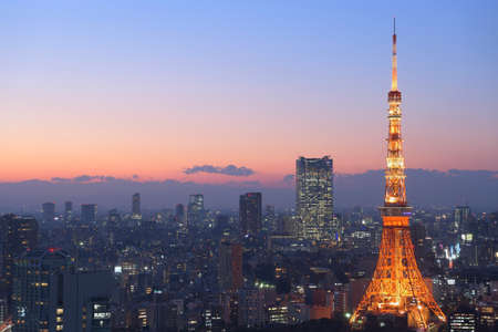 Night view of Tokyo from Hamamatsucho, Minato-ku, Tokyo