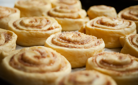 Sweet homemade cinnamon rolls baked with love