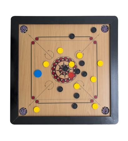 brettspiel: Carrom Brettspiel von der oberen Seite
