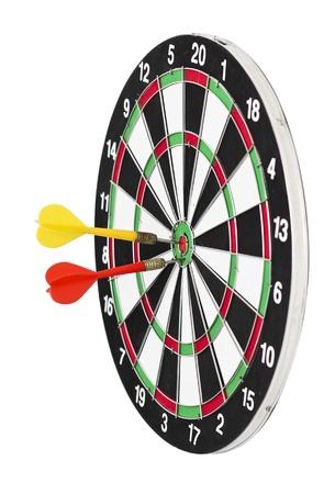 holed: dart board isolated