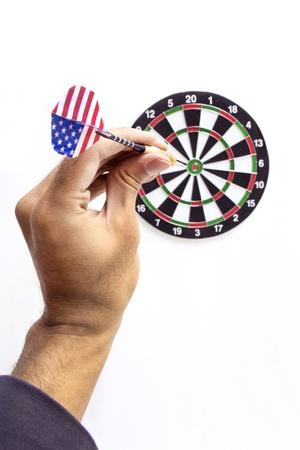 holed: aiming the dart board