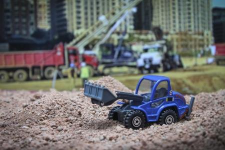 bulldozer moving photo