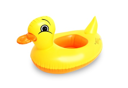 float tube: inflatable duck isolated