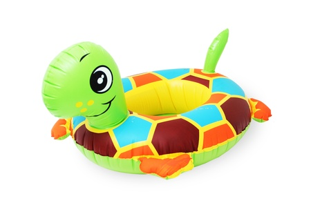 float tube: inflatable turtle isolated