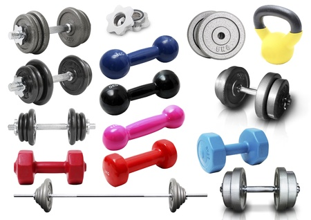 various of dumbbell photo